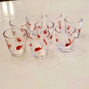 Pier 1 Imports Glass Koi Tealight Holders Set of 8